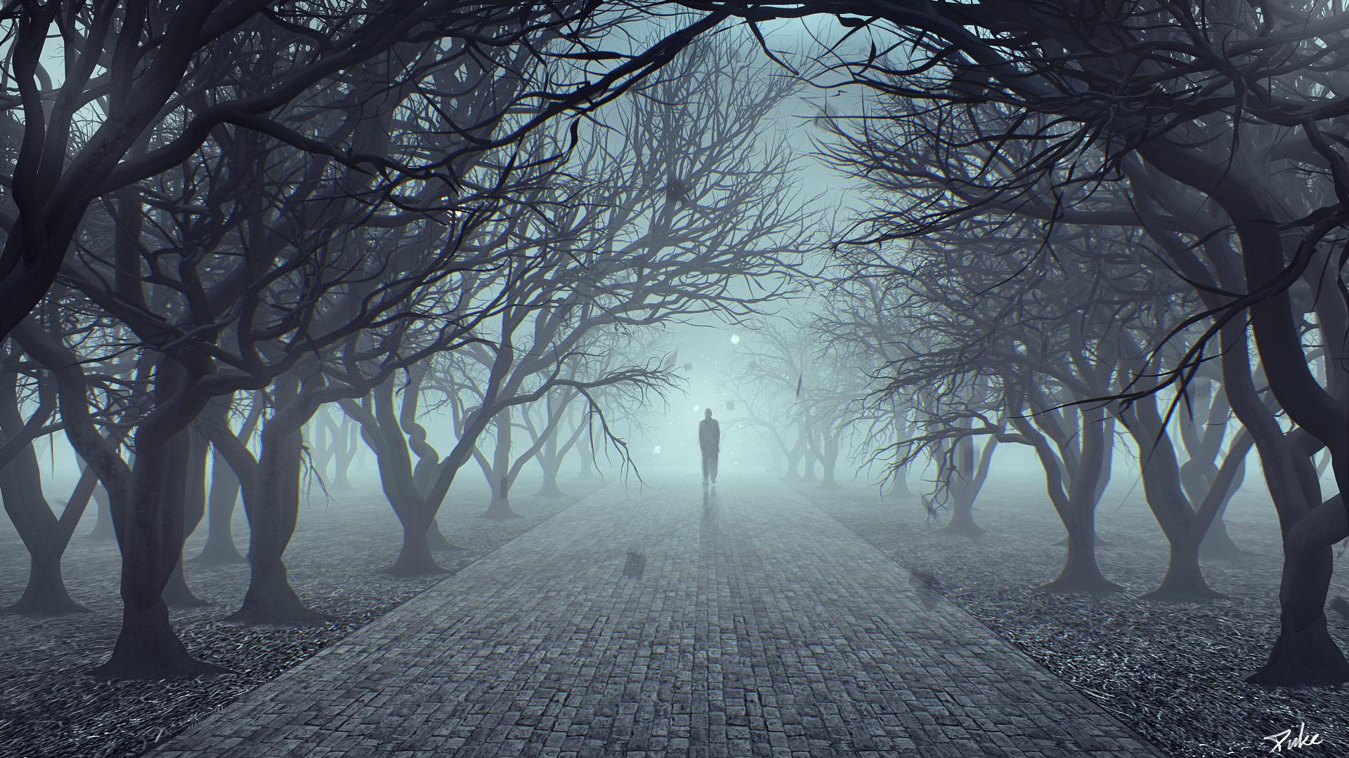Man In Fog  Duke Art-4110